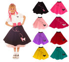 Hip Hop 50s Shop Medium Girls 7/9 Poodle Skirt Halloween or Dance Costume