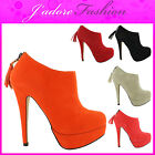 NEW LADIES ZIP UP STILETTO HIGH HEEL PLATFORM TASSLE ANKLE BOOTS SIZES UK 3-8