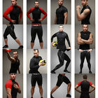 Mens Compression Base Layer Shirts Tights Shorts Skin Jogging Golf Underwear