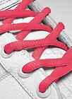 FLAT PADDED (OVAL) NEON PEACH SHOE LACES LONG SHOELACES BOOTLACES - 8mm wide