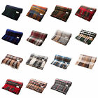 Edinburgh 100% Lambswool Blankets/Rugs in Traditional Tartan