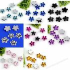 1000pc 8Color Acrylic Flower Flat Bead For Nail Tip Art Sticker Phone Decoration
