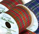 Choice of TARTAN Wired Ribbon 63mm x 10Yds, Christmas, Wedding, Party etc.
