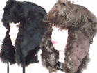 MEN'S LADIES  SUEDE EFFECT FUR RUSSIAN COSSACK TRAPPER SKI  WINTER HAT 58. 59CM