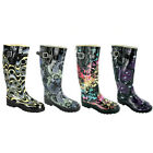 LADIES FESTIVAL WELLIES WINTER WELLYS WOMENS RAIN WELLINGTON BOOTS SIZE 3-8UK