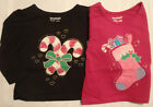 GARANIMALS Baby Girls 12 or 18 Month Long Sleeve Christmas Shirt Choice NWT