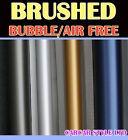【BRUSHED】Vehicle Wrap Vinyl Sticker【A4  200mm x 300mm Air Free】SMALL SIZE