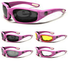 Choppers Pink Women Riding Goggles Biker Girl Padded Motorcycle Sunglasses NEW