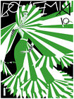 Fashion Decor Poster. Fine Graphic Home Art Design. Bohemia Green & White. 2654