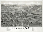 Decor Poster. Fine Graphic Home Art Design. Clinton, N.Y Birds eye view. 2667