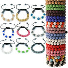 BUY 1 GET 1 FREE LADIES 11 BALL SHAMBALLA CZECH CRYSTAL BRACELET GIRLS WATCH