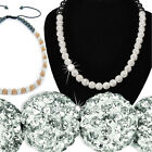Shamballa Ball Necklace Czech Crystal Chain Girls Ladies Mens Xmas Jewellery New
