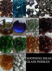 500g(approx 40)Glass Pebbles/Nuggets 30mm Various Colours Weddings Home Decor