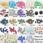 Jewelry Acrylic Resin Rhinestones Spacer Beads 10*12mm for bracelets fit U pick