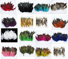 NEW 50pcs Saddle Badger Rooster feathers 5-6 inch Multicolor colours Optional