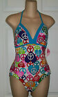 Joe Boxer Heart And Soul Peace Sign 1 Pc Swim Suit Girls Plus 16.5, 18.5 NWT $34