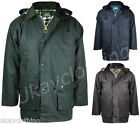 Men's Premium Countryman Classic Padded Wax Jacket    Green - Navy - Brown