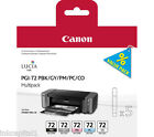 Canon PGI-72 Set of 5 x Original OEM Inkjet Cartridges PBK,GY, PM, PC, CO