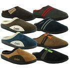 New Mens Coolers Clog Microsuede Slip On Mule Slippers Shoes UK Sizes