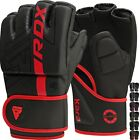 RDX Leather Gel Tech MMA UFC Grappling Gloves Fight Boxing Punch Bag Training T3