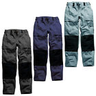 New DICKIES Grafter Two Tone Mens Work Trousers 4 Colours 7 Sizes 2 Leg Lengths