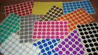 20mm Round Blank Price Stickers - Coloured Labelling Code Dots - Sticky Labels