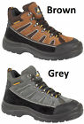 NEW MENS LEATHER SAFETY STEEL TOE CAP ANKLE HIKING BOOTS SIZE 6 -13 S1P