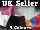 "9 COLOURS: BLACK WHITE RED PINK BLUE SILK FEEL PLAIN LADIES SQUARE SCARF 19""x19"""