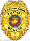 STICKER U.S. Marine Corps Military Police Officer Badge