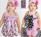 Girls Baby Ruffle Romper Pants 0-24M Bloomers Nappy Cover Shower Playsuit Lovely