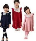 Girls Kids Dress 1-Pcs Set 2-7Y Baby Princess Party School Skirt Toddler Costume