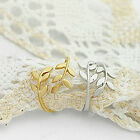 1 New Free Ship Vintage Tree Leaf Gold Silver Colour Rings Girl Lady' Choice