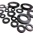 8mm BLACK THICK  NYLON PLASTIC  WASHERS TO SUIT M8 SCREWS & BOLTS, WASHER (FWS)