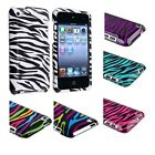White/Colorful/Blue/Black/Purple Zebra Hard Cover Case For iPod Touch 4th 4G 4