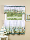 Lighthouses Complete Kitchen Curtain Tier and Valance Set - Assorted Sizes