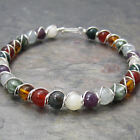 Chakra Version 2 Beaded Sterling Silver Wire Wrapped Bracelet