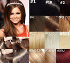 "AAA 22""-36"" Remy Human Hair 21Clips In Extensions 10Pcs 140g Straight More Color"