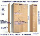 Timber / Wood Effect Heavy Duty Laminate Door Sports Gym Changing Room Lockers