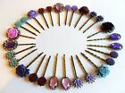 Hair Pins Grips Clips Slides Vintage Accessories Bobby Flower Rhinestone Rose