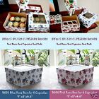 10 20 50 Luxury Vintage Rose Lidded Cupcake Muffin Boxes With Bases Holds 6 Cups