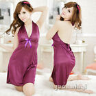 Women V-Neck Sexy Halter Lingerie Babydoll Pajama Nightdress Sleepwear Nightgown