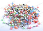 Wholesale Lots Mixed Acrylic Ball Beads Tongue Bars Barbell Rings Body Jewellery