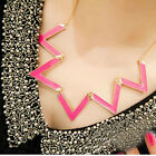 New Fashion 3 Colors Oil-spot Glaze Triangle Lady Womens Necklace