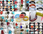 New Lots Fashion Mixed Colors Cats Eye Millefiori Glass Rings