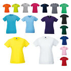 New RUSSELL Womens Ladies Cotton Slim Fitted Crew Neck T Shirt 16 Colours XS-XL