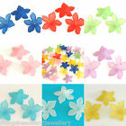 30 Frosted Acrylic Lucite Flower Beads 27mm Jewellery Making