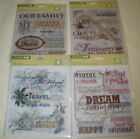NEW Studio 112 - VELLUM QUOTES - 5 Pieces - 4 Different to Choose From - U Pick