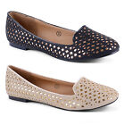 New Ladies Dolcis Flat Cut Out Ballet Pumps Dolly Shoes Sizes UK 3 4 5 6 7 8