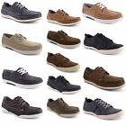 New Mens Gents Real Leather Lace Up Deck Boat Mocassin Shoes Trainers Size 7-11