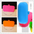 Lady Fashion Candy Colour Silicone Wallet Purse Cosmetics Clutch Bag